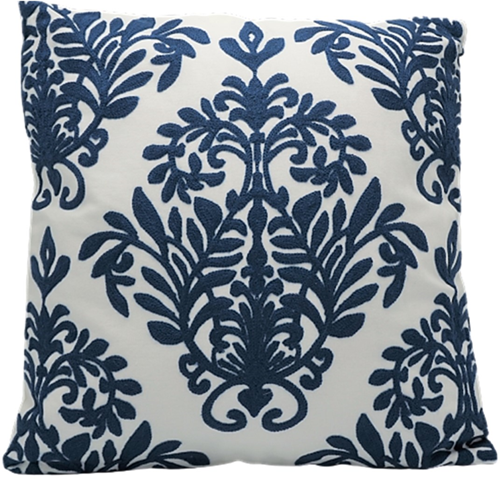 Kussen Barok Blauw/Wit