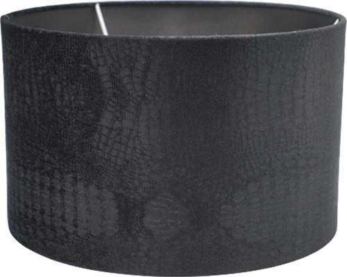 Lampenkap Croco - Velvet Zwart 40cm