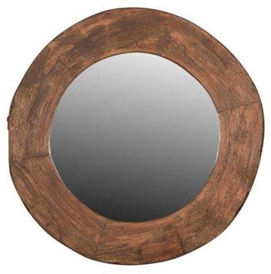 Houten Spiegel Rond 130cm