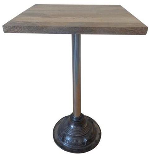Vierkante Tafel met Metalen Poot